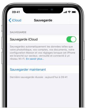 iCloud-sauvegarde