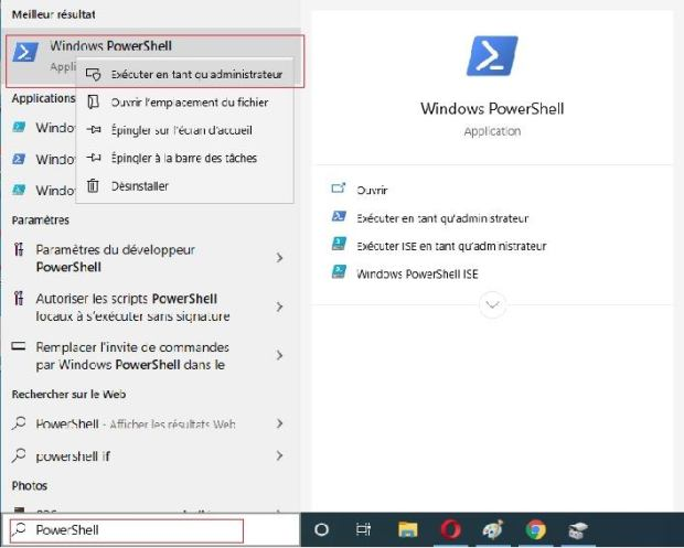 Powershell - supprimer partition Windows 10