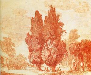 Dessin à la Sanguine de Fragonard.
