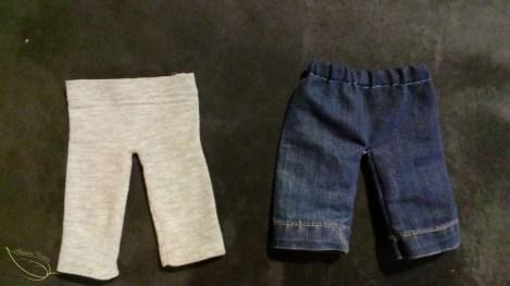 recycler et transformer les vêtements abîmés en vêtements de poupée
