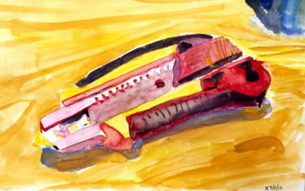 This is the first painting I made with just primary colours.