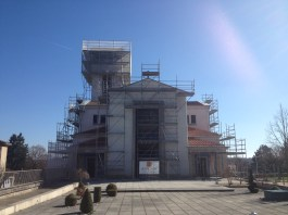 View of the new Eglise Saint-Martin, currently undergoing restoration.