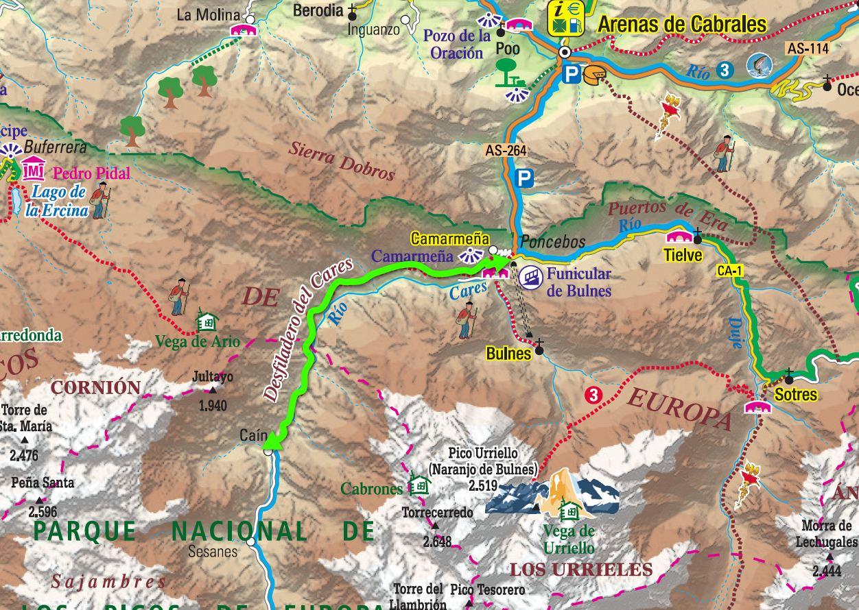 Mapa De La Ruta Del Cares Mapa Descarga El Mapa