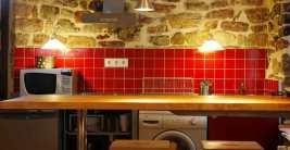 Cocina en Casa rural con jacuzzi