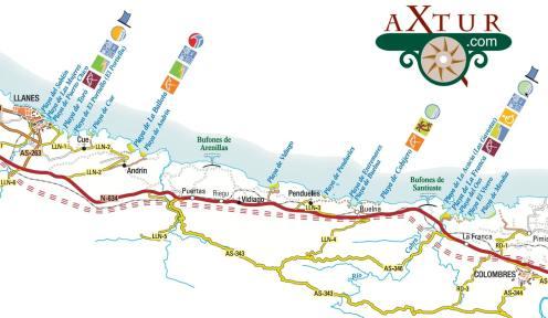 Playas de Asturias. Llanes-Colombres