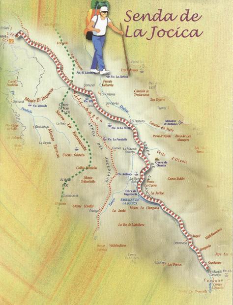 Ruta del Valle de Angon desde Amieva a la Jocica