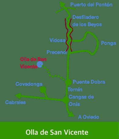 Olla de San Vicente. Situación