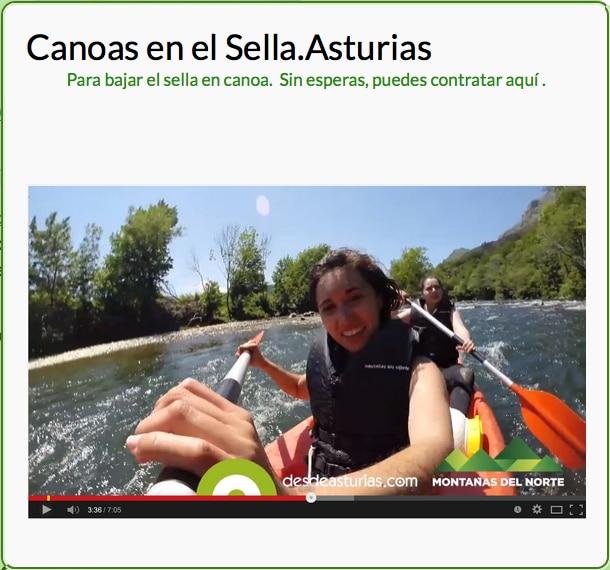 turismo activo Canoas y actividades en el Sella. Picos de EuropaCanoas y actividades en el Sella. Picos de Europa