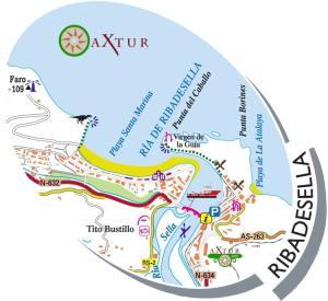 Plano Ribadesella 300x275 - Cueva de Tito Bustillo