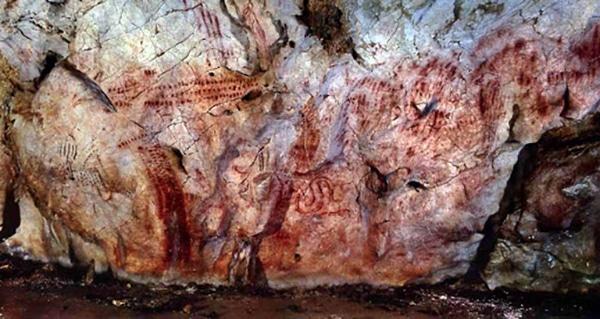 Arte rupestre en Asturias cueva de llonin