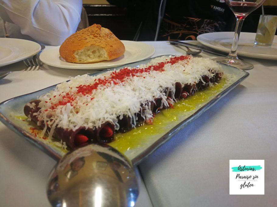 Rulo de cecina Restaurante Blanco