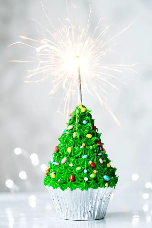 Christmas Tree Cupcake A Subtle Revelry