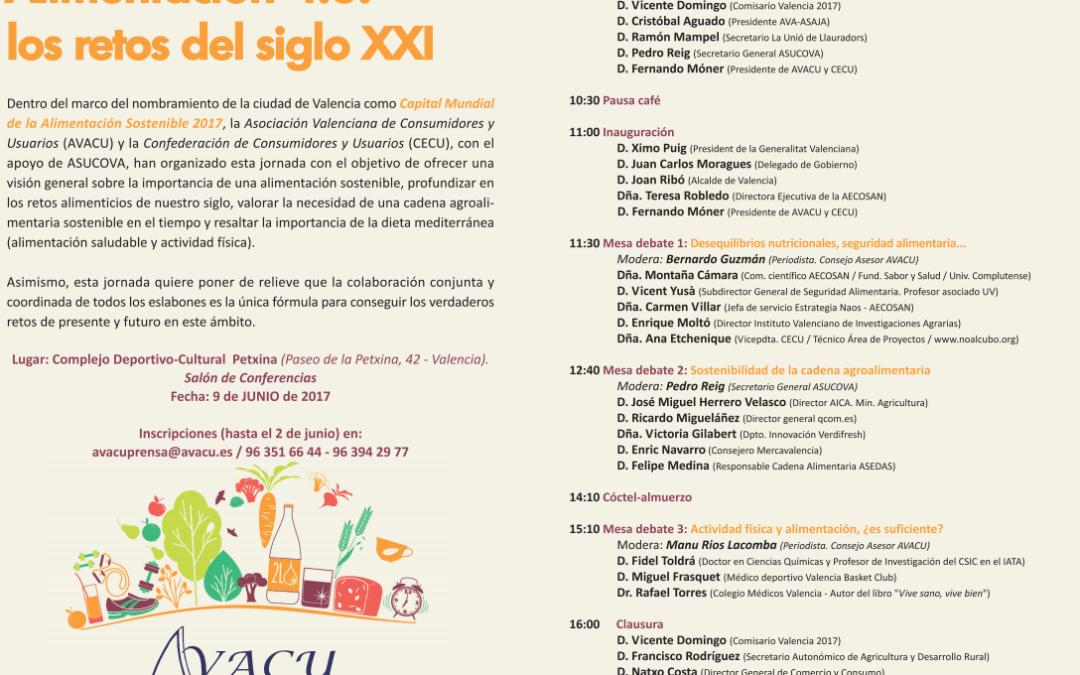 Jornada «ALIMENTACIÓN 4.0: LOS RETOS DEL SIGLO XXI» 09 de junio de 2017