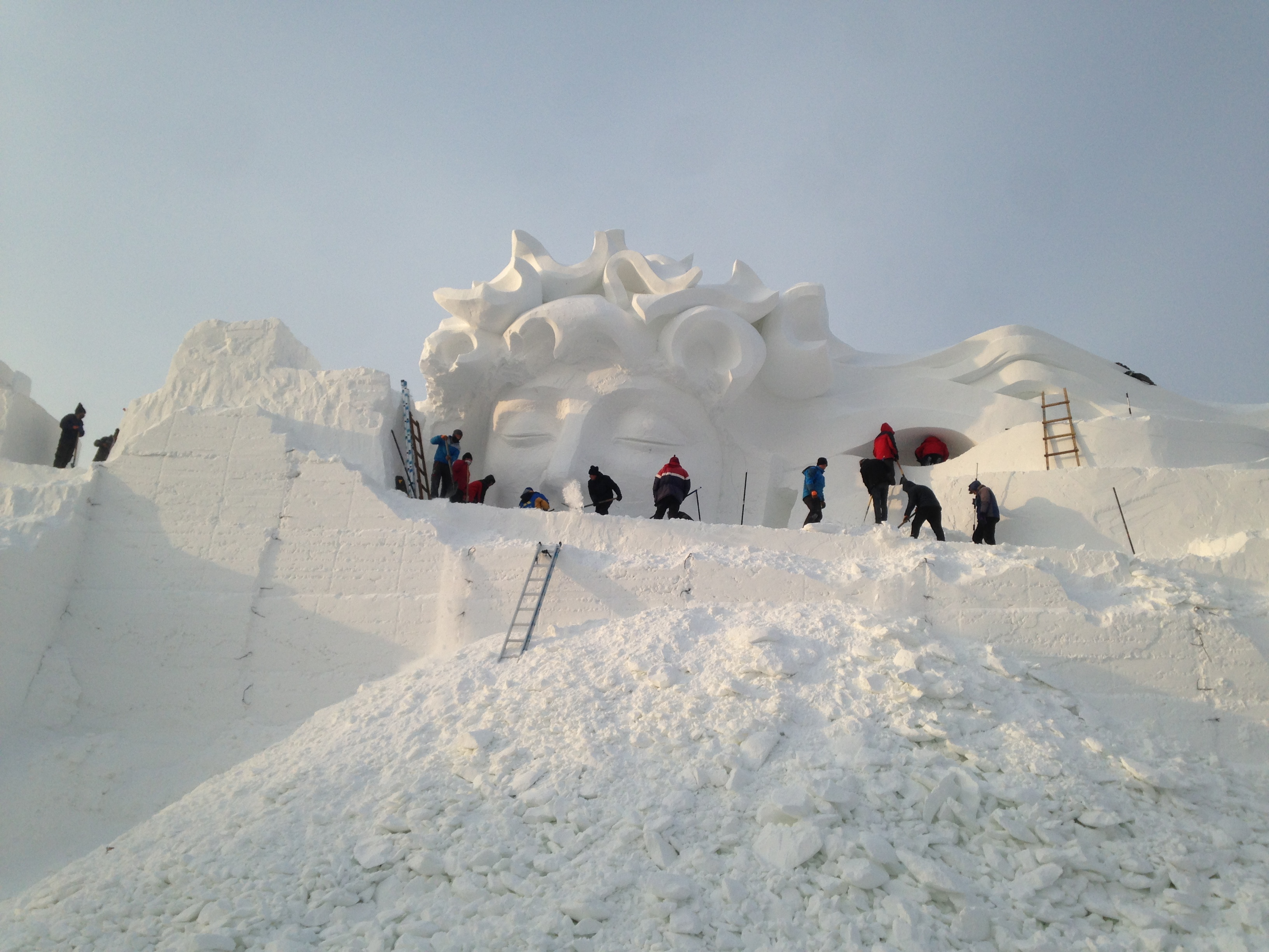 Snow Sclupture Process