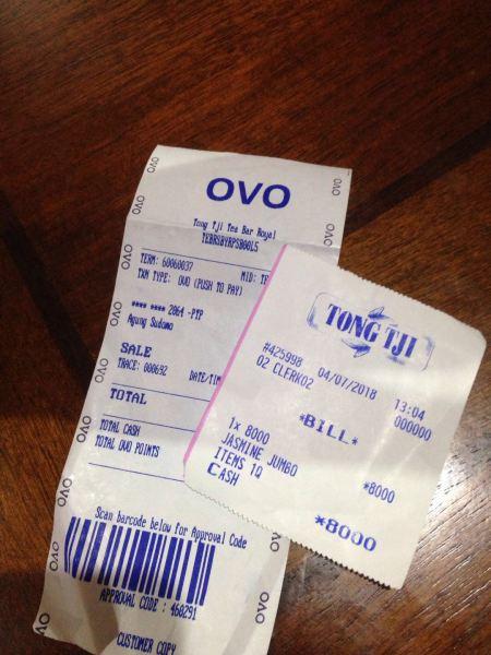 Bayar Makanan dengan OVO
