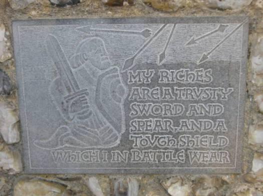 002Castle wall plaque