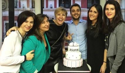 Equipo ASUFIN - Noelia Montes, Rosana Organista, Patricia Suárez, Manuel Navarro, Sandra Muñoz y Rosalía Torresano