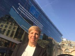 Patricia Suárez, presidenta de ASUFIN y FINSALUD ante el Comité Económico y Social Europeo de Bruselas