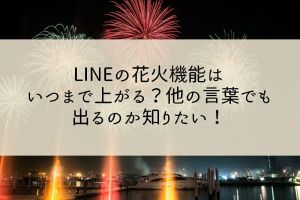 LINEの花火機能はいつまで上がる?他の言葉でも出るのか知りたい!