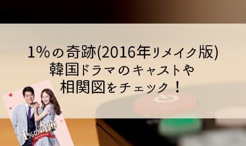 1%の奇跡(2016年リメイク版)韓国ドラマのキャストや相関図をチェック!