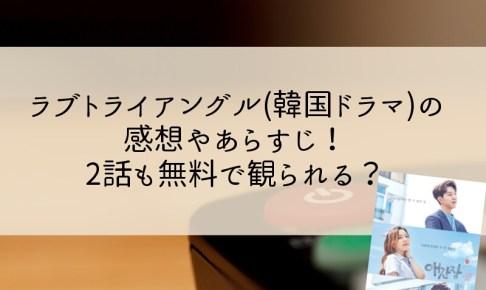 ラブトライアングル(韓国ドラマ)の感想やあらすじ!2話も無料で観られる?