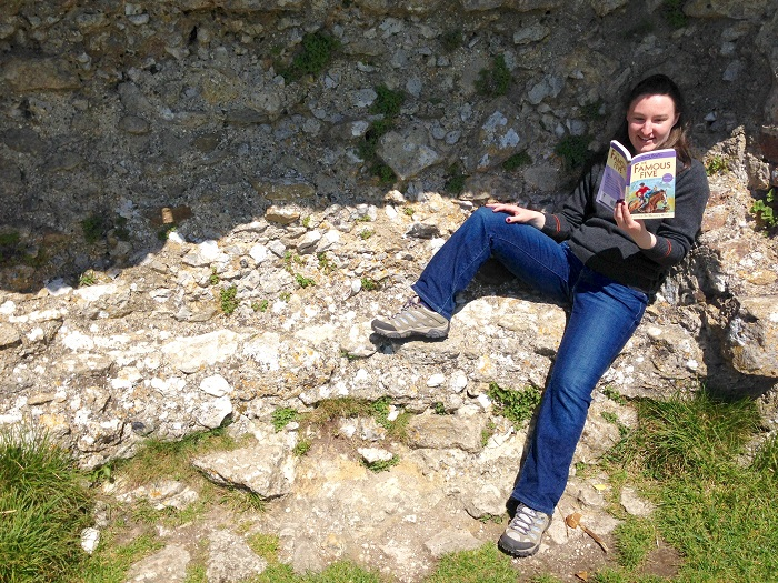 Reading At Corfe Castle