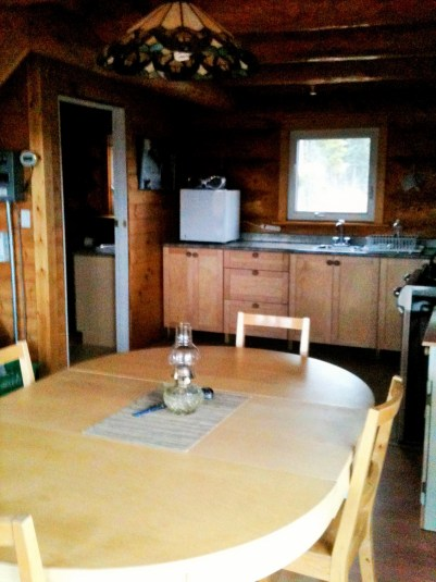 Shilo's Chalet kitchenet