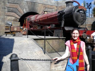 We strolled past the Hogwarts Express