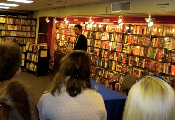 Book reading by John Krasinski at Brookline Booksmith in Boston