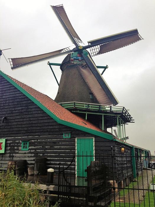 Zaanse Schans Paint Windmill