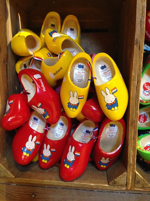 Miffy on wooden shoes