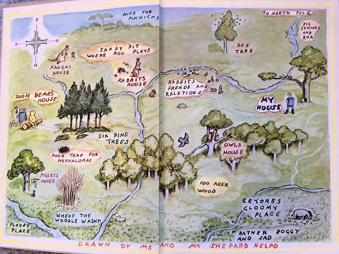 World of Pooh Map