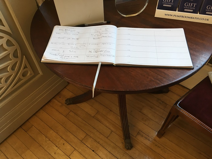 Pump Room Guest Book