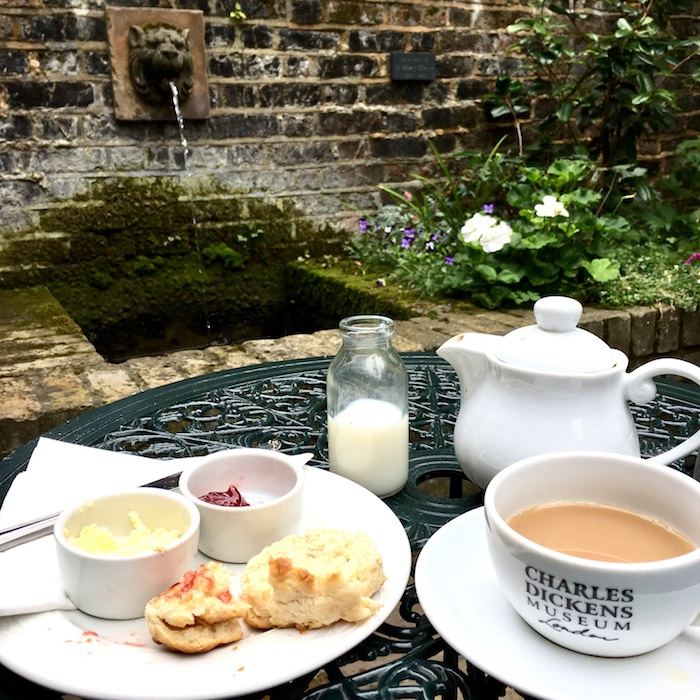 Charles Dickens Museum Tea Room Patio