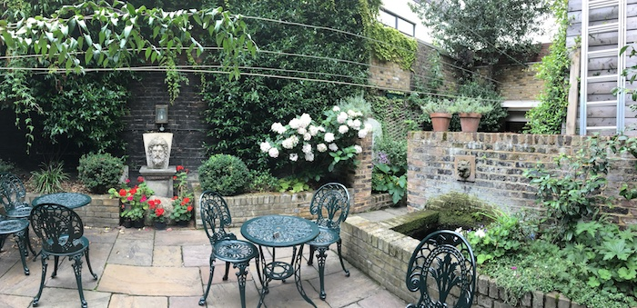Charles Dickens Museum Tea Room Patio Panorama