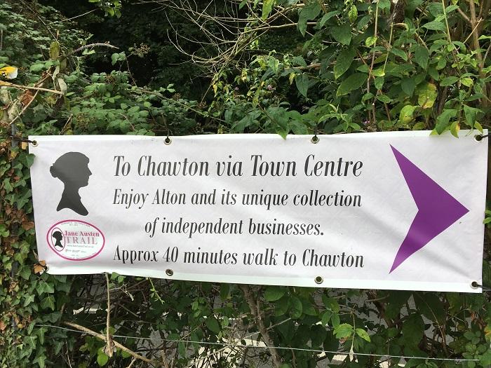 Jane Austen Trail Sign
