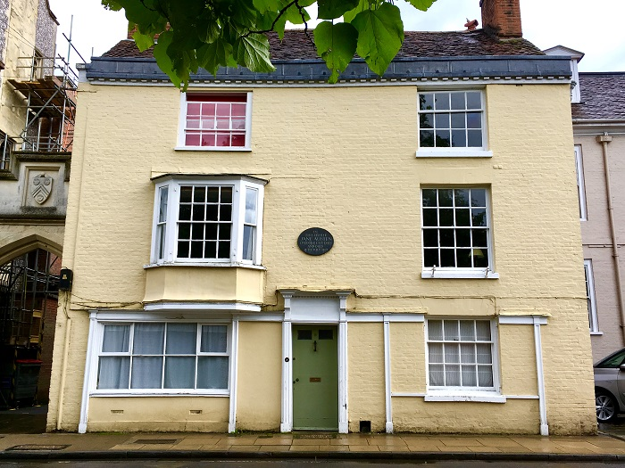 Jane Austen's last residence at #8 College Street, Winchester