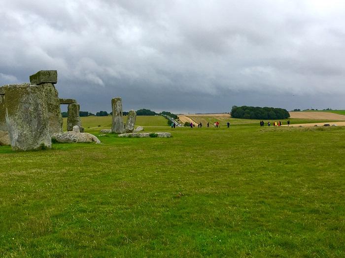 Stonehenge with road