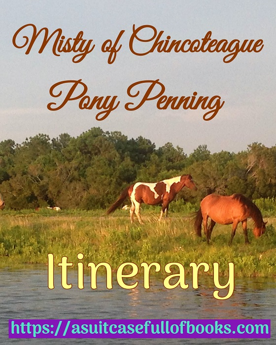 Misty of Chincoteague Pony Penning Itinerary Pin