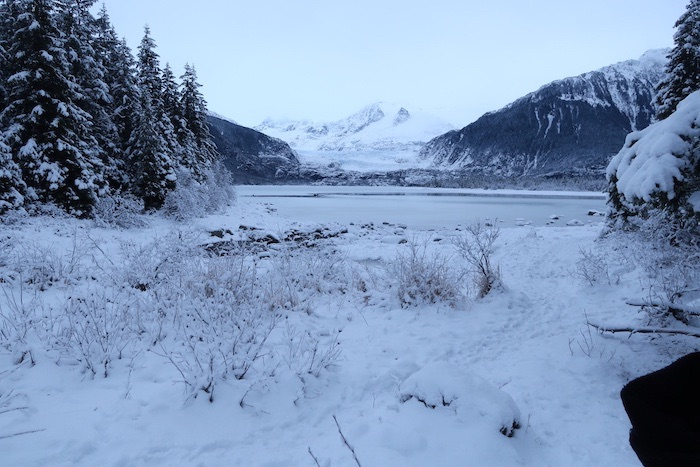 Mendenhall Glacier in Winter