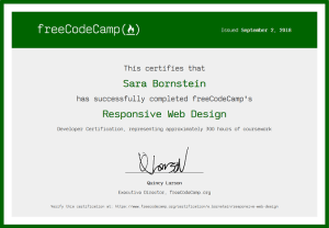 Free Code Camp Responsive Web Design Certificate