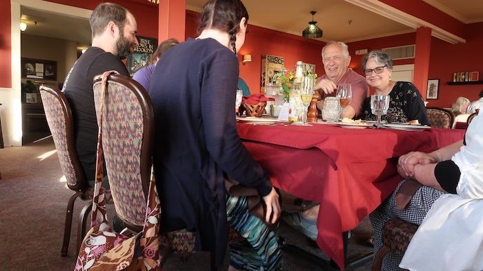 Sylvia Beach Hotel Dinner