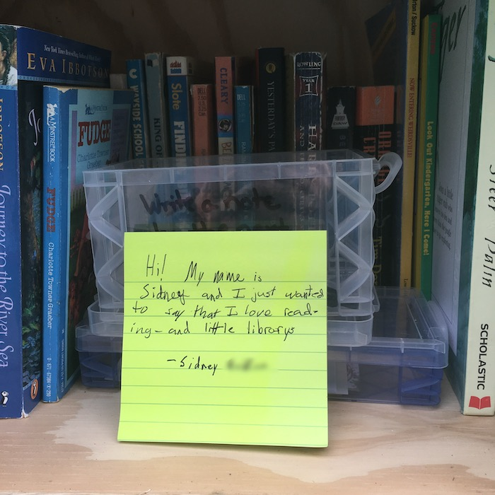 Little Free Library Note