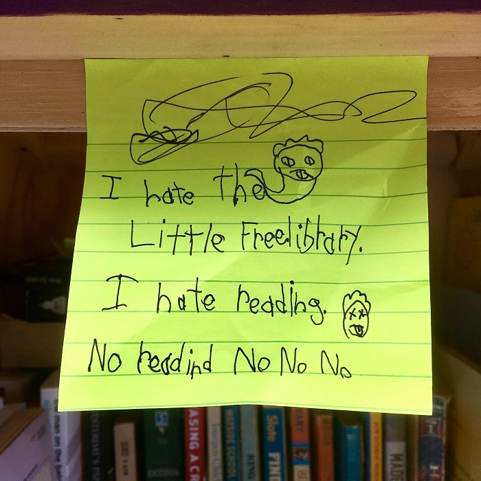 Note from the Little Free Library