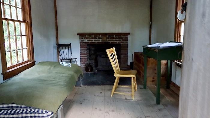 Thoreau's replica cabin at Walden Pond