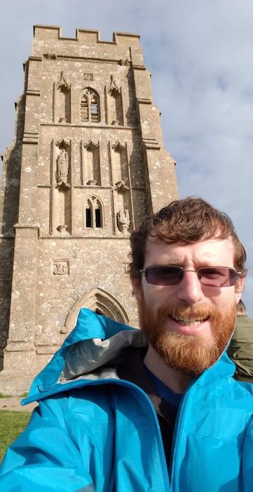 Sam at Glastonbury Tor