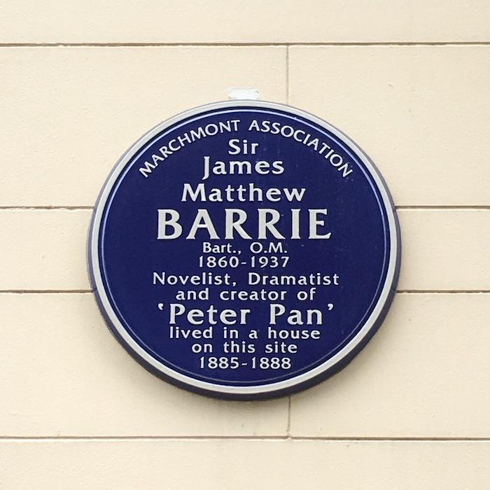 Barrie Bloomsbury Plaque