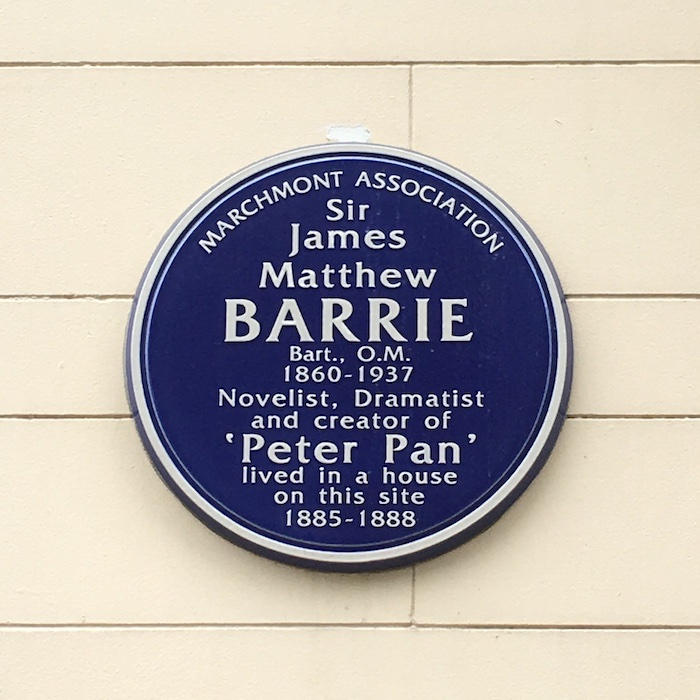 Barrie Bloomsbury Plaque