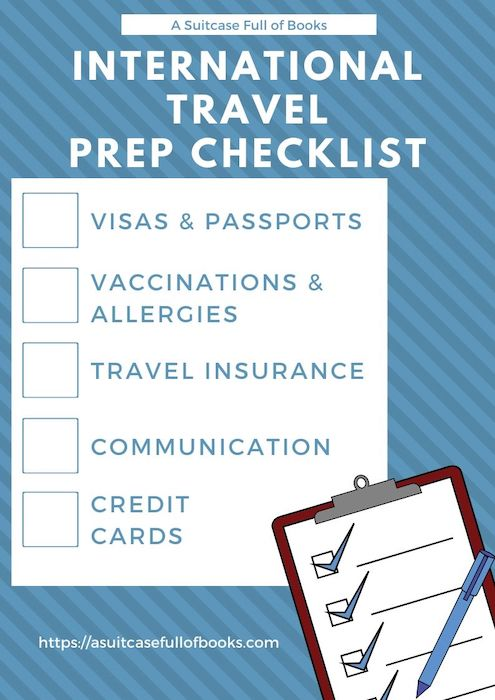 Travel Prep Checklist Pinterest Pin