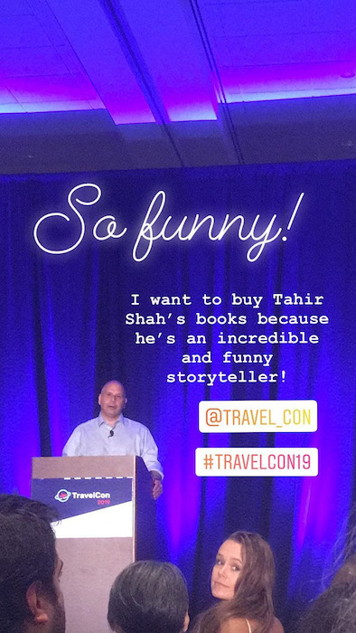 Tahir Shah at Travel Con Insta Story